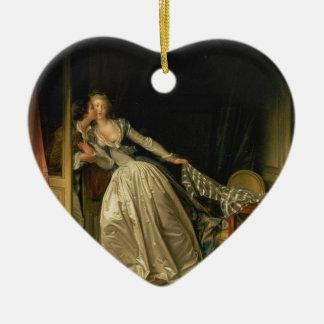Adorno De Cerámica Jean-Honore Fragonard - el beso robado - bella
