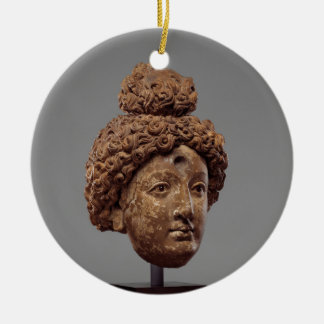 Adorno De Cerámica Jefe de un Buda o de un Bodhisattva