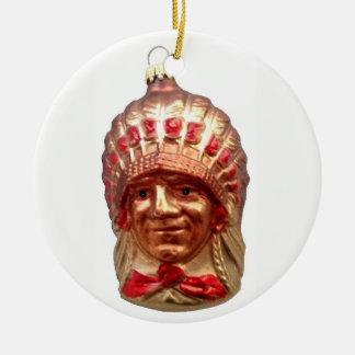 Adorno De Cerámica Jefe del nativo americano