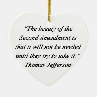 Adorno De Cerámica Jefferson - segunda enmienda