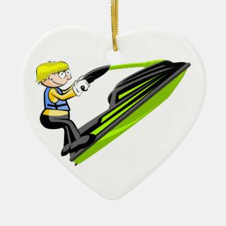 Adorno De Cerámica Jet ski fan