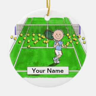 Adorno De Cerámica Jugador de tenis, varón