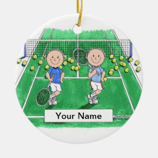 Adorno De Cerámica Jugadores de tenis - varón y varón