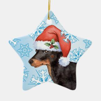 Adorno De Cerámica Juguete feliz Manchester Terrier de Howlidays