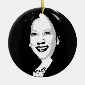 Adorno De Cerámica Kamala Harris para presidente Portrait