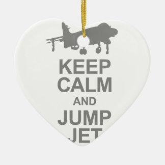 Adorno De Cerámica Keep Calm and Jump Jet
