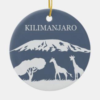 Adorno De Cerámica Kilimanjaro (azul)