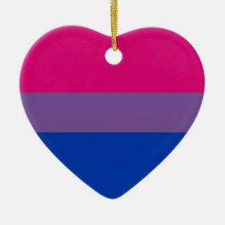 Adorno De Cerámica La bandera del BI vuela para el orgullo bisexual