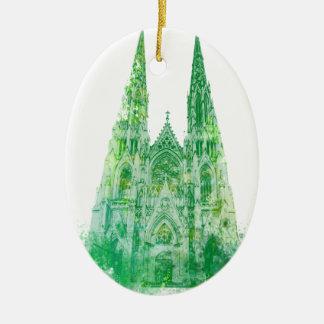 Adorno De Cerámica La catedral Nueva York de San Patricio