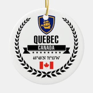 Adorno De Cerámica La ciudad de Quebec