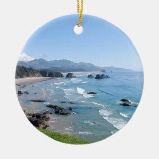 Adorno De Cerámica La costa hermosa de Oregon del parque de Ecola
