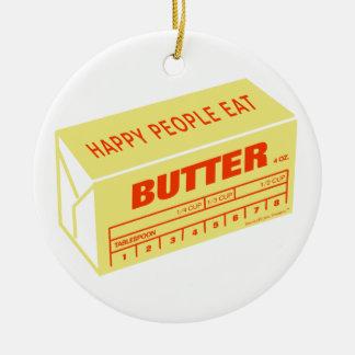 Adorno De Cerámica La gente feliz come la mantequilla (roja)
