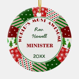 Adorno De Cerámica La mayoría del ministro impresionante o del nombre