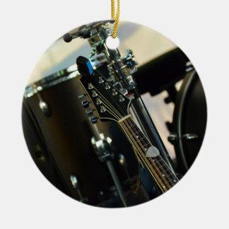 Adorno De Cerámica La música de los instrumentos teclea el