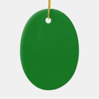 Adorno De Cerámica La plantilla en blanco llana del verde DIY añade
