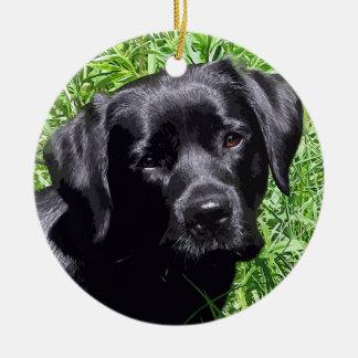 Adorno De Cerámica Labrador negro - día de primavera