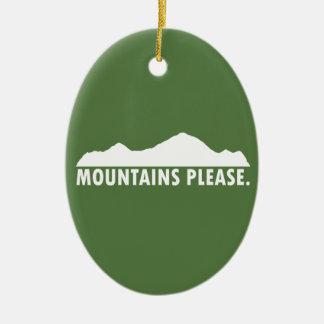 Adorno De Cerámica Las montañas satisfacen