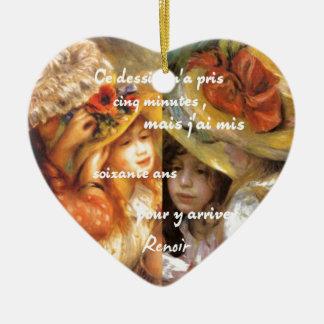 Adorno De Cerámica Las pinturas de Renoir son un montón de amor