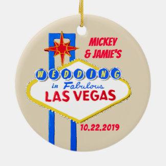 Adorno De Cerámica Las Vegas personalizó reserva la fecha