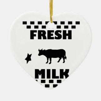 Adorno De Cerámica Leche de vaca fresca de la lechería