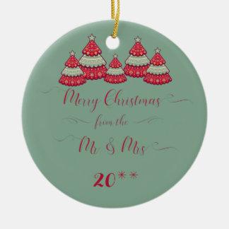 Adorno De Cerámica Lindo nuestro primer navidad junto adorna