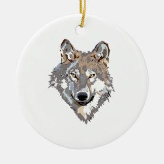 Adorno De Cerámica Lobo principal - ilustracion del lobo - lobo