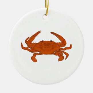 Adorno De Cerámica Logotipo cocido al vapor del cangrejo (cangrejo