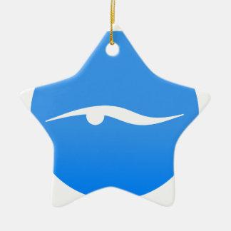 Adorno De Cerámica Logotipo de la natación en la camiseta