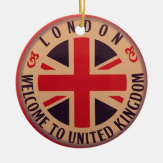 Adorno De Cerámica Londres - Union Jack - recepción a Reino Unido