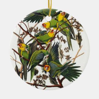 Adorno De Cerámica Loro de Carolina - John James Audubon (1827-1838)