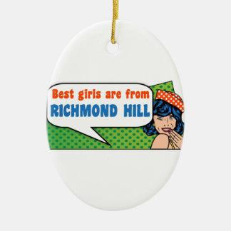 Adorno De Cerámica Los mejores chicas son de colina de Richmond