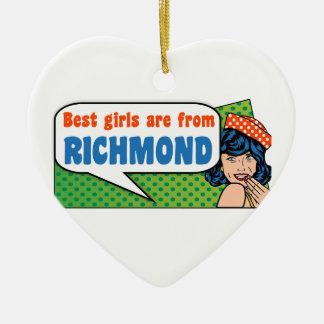 Adorno De Cerámica Los mejores chicas son de Richmond
