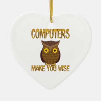 Adorno De Cerámica Los ordenadores le hacen sabio