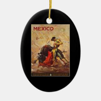 Adorno De Cerámica Lucha Matador de México Bull del viaje del vintage