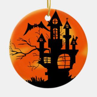 Adorno De Cerámica Luna de Halloween