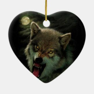 Adorno De Cerámica Luna del lobo