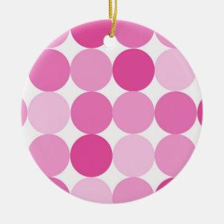 Adorno De Cerámica Lunares rosados elegantes femeninos lindos