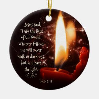 Adorno De Cerámica Luz de Jesús del salmo 8, navidad de encargo del