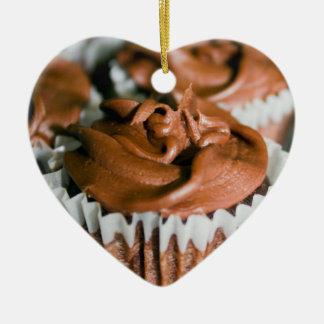 Adorno De Cerámica Magdalenas heladas chocolate en una foto de la