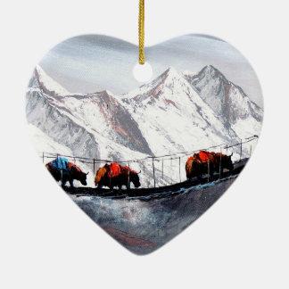 Adorno De Cerámica Manada de los yacs Himalaya de la montaña