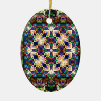 Adorno De Cerámica Mandala céltica del vitral del corazón del arco