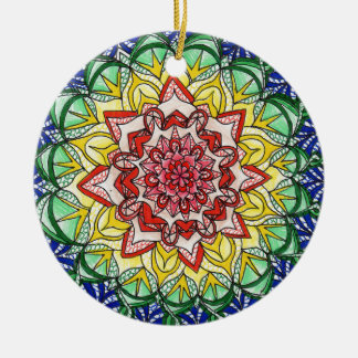 Adorno De Cerámica Mandala del arco iris