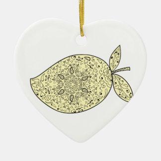 Adorno De Cerámica Mandala jugosa de la fruta del mango