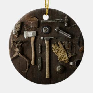 Adorno De Cerámica Manitas temáticas, de madera de la renovación de