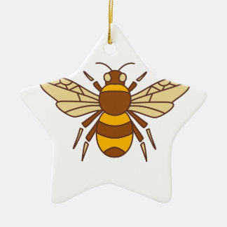 Adorno De Cerámica Manosee el icono de la abeja
