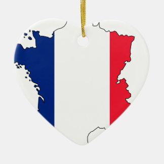 Adorno De Cerámica Mapa #2 de la bandera de Francia