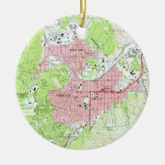 Adorno De Cerámica Mapa del Prescott Arizona (1973)