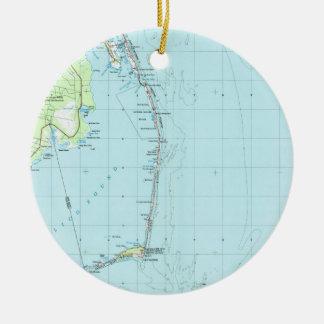 Adorno De Cerámica Mapa meridional de Outer Banks del vintage (1957)