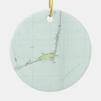 Adorno De Cerámica Mapa nacional de la costa de Hatteras del cabo