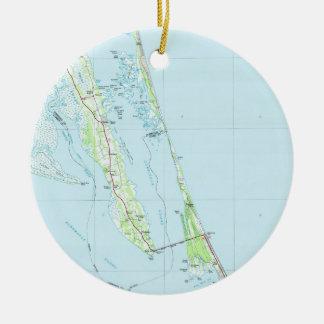 Adorno De Cerámica Mapa septentrional de Outer Banks Carolina del